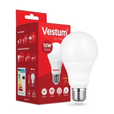 Лампа LED VESTUM A65 15W 3000K 220V E27