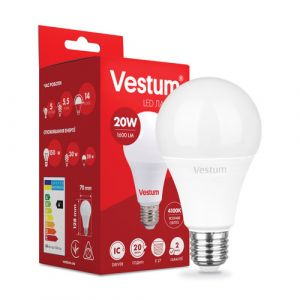 Лампа LED VESTUM A70 20W 4100K 220V E27