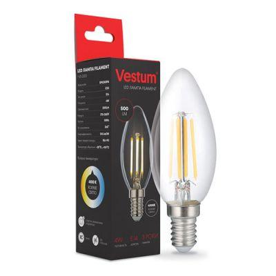 Лампа LED VESTUM ФИЛАМЕНТ С35 Е14 4ВТ 220V 4100К