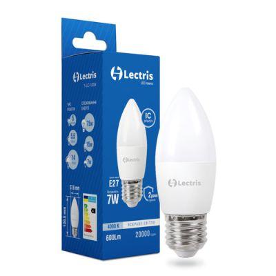 Лампа LED LECTRIS С37 7W 4000K 220V E27