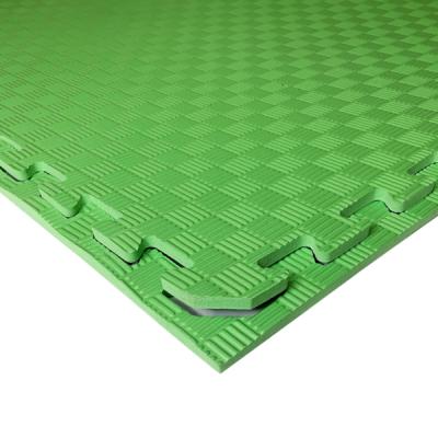 Коврик-пазл EVA SPORT 100х100х1 (зелёный)