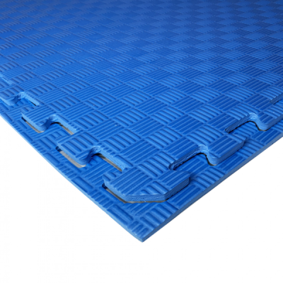 Коврик-пазл EVA SPORT 100х100х1 (синий)