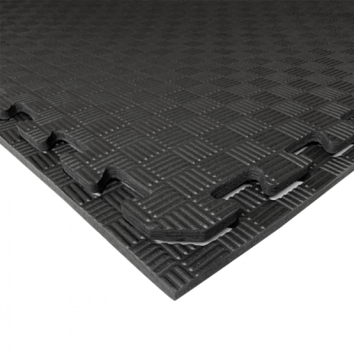 Коврик-пазл EVA SPORT 100х100х1 (чёрный)