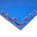 Коврик-пазл EVA SPORT 100х100х2.6 с бортиком (красно-синий)