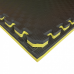 Коврик-пазл EVA SPORT 100х100х3 с бортиком (жёлто-чёрный)