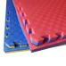 Коврик-пазл EVA SPORT 100х100х4 с бортиком (жёлто-синий)
