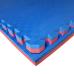 Коврик-пазл EVA SPORT 100х100х4 с бортиком (красно-синий)