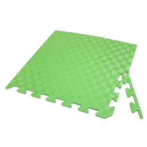 Коврик-пазл EVA SPORT 50х50х1 с бортиком (зелёный)