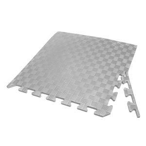 Коврик-пазл EVA SPORT 50х50х1 с бортиком (серый)