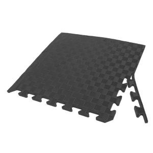 Коврик-пазл EVA SPORT 50х50х1 с бортиком (чёрный)