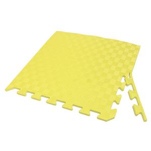 Коврик-пазл EVA SPORT 50х50х1 с бортиком (жёлтый)