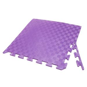 Коврик-пазл EVA SPORT 50х50х1 с бортиком (фиолетовый)