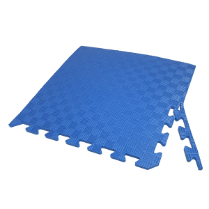 Коврик-пазл EVA SPORT 50х50х1 с бортиком (синий)