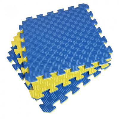 Коврик-пазл EVA SPORT 50х50х2 (жёлто-синий)