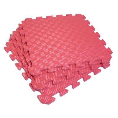 Коврик-пазл EVA SPORT 50х50х1 (красный)