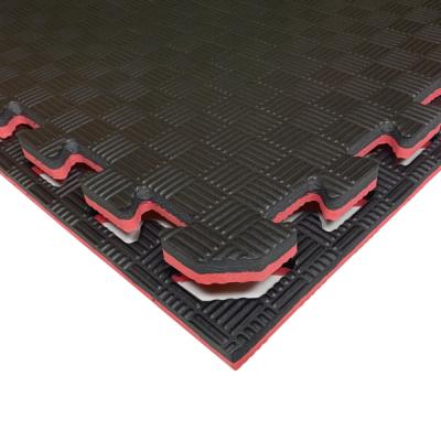 Коврик-пазл EVA SPORT 100х100х2 с бортиком (красно-чёрный)