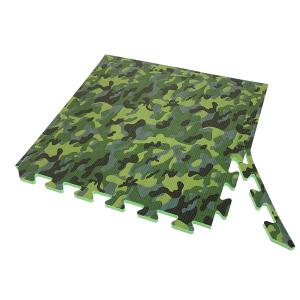 Коврик-пазл EVA SPORT 50х50х1 с бортиком (камуфляж зелёный)
